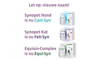 Cani-Syn voor honden, Feli-Syn voor katten, Equi-Syn voor paarden